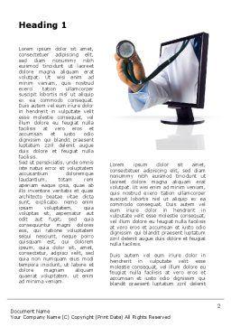 Internet Medicine Word Template, First Inner Page, 10333, Medical — PoweredTemplate.com