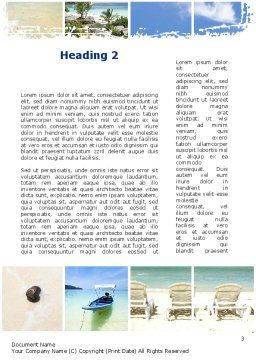 Resort Presentation Word Template, Second Inner Page, 10334, Careers/Industry — PoweredTemplate.com