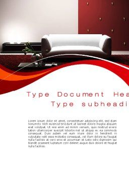 Red and White Interior Word Template, Cover Page, 10335, Careers/Industry — PoweredTemplate.com