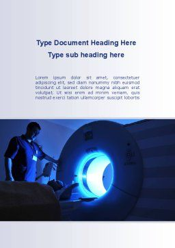 MRI Machine Word Template Cover Page
