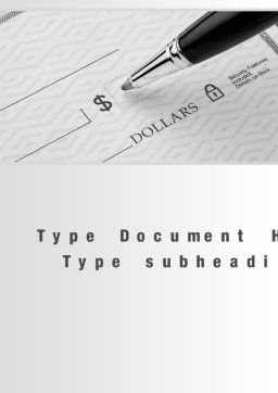 Writing a Check Word Template, Cover Page, 10338, Financial/Accounting — PoweredTemplate.com