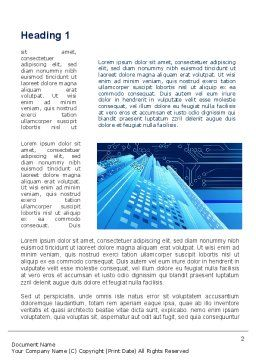Technological Word Template, First Inner Page, 10341, Technology, Science & Computers — PoweredTemplate.com