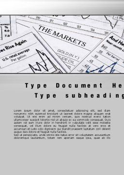 Market Report Word Template, Cover Page, 10342, Financial/Accounting — PoweredTemplate.com