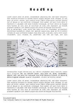 Market Report Word Template, First Inner Page, 10342, Financial/Accounting — PoweredTemplate.com