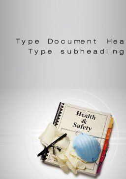 Health and Safety Word Template, Cover Page, 10352, Utilities/Industrial — PoweredTemplate.com