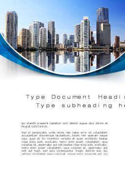 City Reflection Word Template, Cover Page, 10357, Construction — PoweredTemplate.com