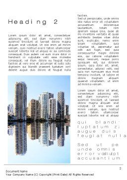 City Reflection Word Template, First Inner Page, 10357, Construction — PoweredTemplate.com