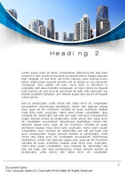 City Reflection Word Template, Second Inner Page, 10357, Construction — PoweredTemplate.com
