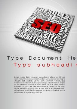 SEO Word Template, Cover Page, 10358, Technology, Science & Computers — PoweredTemplate.com
