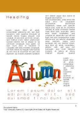 3D Autumn Word Template, First Inner Page, 10360, Nature & Environment — PoweredTemplate.com