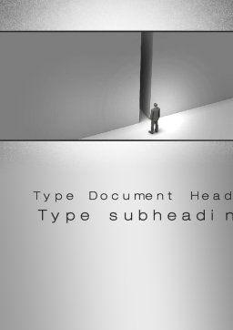 No Alternative Word Template, Cover Page, 10361, Business Concepts — PoweredTemplate.com
