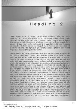 No Alternative Word Template, Second Inner Page, 10361, Business Concepts — PoweredTemplate.com