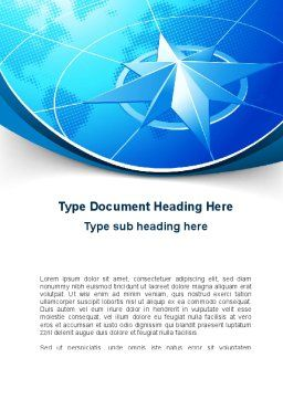 Wind Rose Word Template, Cover Page, 10364, Business Concepts — PoweredTemplate.com