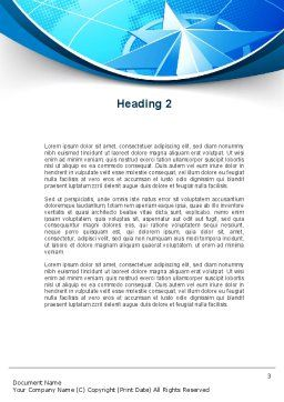 Wind Rose Word Template, Second Inner Page, 10364, Business Concepts — PoweredTemplate.com