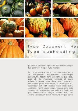 Pumpkin Word Template, Cover Page, 10366, Agriculture and Animals — PoweredTemplate.com