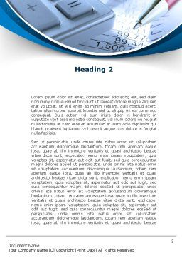 Financial Calculations Word Template Second Inner Page