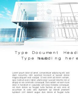 Design Concept Word Template, Cover Page, 10371, Careers/Industry — PoweredTemplate.com