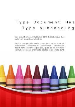 Crayons Word Template Cover Page