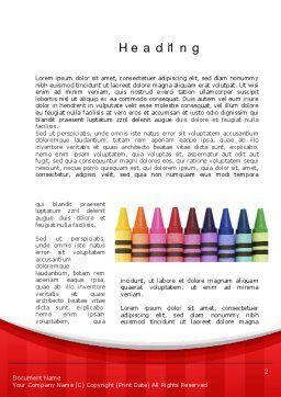 Crayons Word Template First Inner Page
