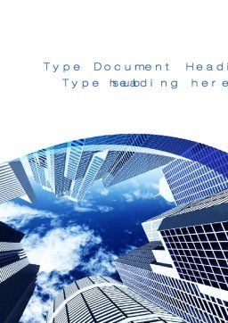 Skyscrapers Word Template, Cover Page, 10380, Construction — PoweredTemplate.com