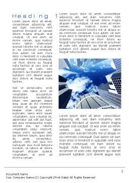 Skyscrapers Word Template, First Inner Page, 10380, Construction — PoweredTemplate.com