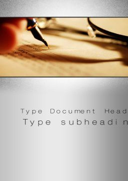 Agreement Signing Word Template, Cover Page, 10381, Legal — PoweredTemplate.com