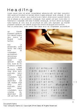 Agreement Signing Word Template, First Inner Page, 10381, Legal — PoweredTemplate.com