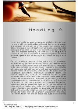 Agreement Signing Word Template, Second Inner Page, 10381, Legal — PoweredTemplate.com