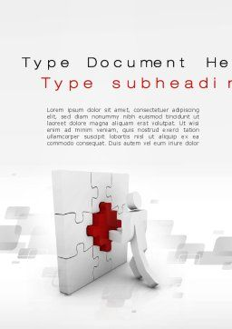 Building Puzzle Word Template, Cover Page, 10386, Consulting — PoweredTemplate.com