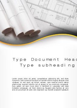 Design Documents Word Template Cover Page