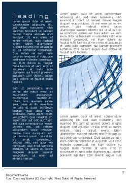 Building Structure Word Template, First Inner Page, 10392, Construction — PoweredTemplate.com