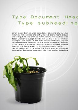 Withered Plant Word Template, Cover Page, 10393, Agriculture and Animals — PoweredTemplate.com