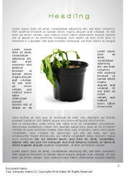Withered Plant Word Template, First Inner Page, 10393, Agriculture and Animals — PoweredTemplate.com