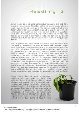 Withered Plant Word Template, Second Inner Page, 10393, Agriculture and Animals — PoweredTemplate.com