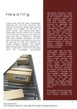 Urgent Delivery Word Template, First Inner Page, 10394, Careers/Industry — PoweredTemplate.com