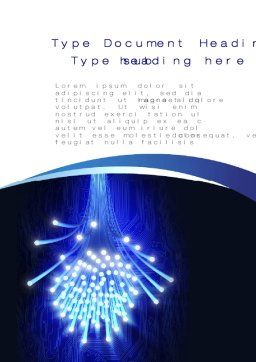 Fiber Bundle Word Template, Cover Page, 10395, Technology, Science & Computers — PoweredTemplate.com