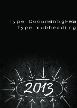 New Year Brain Storm Word Template, Cover Page, 10396, Consulting — PoweredTemplate.com