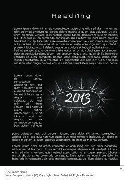 New Year Brain Storm Word Template, First Inner Page, 10396, Consulting — PoweredTemplate.com