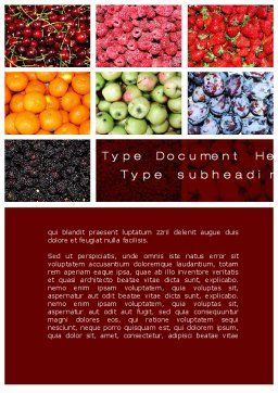 Greengrocery Word Template, Cover Page, 10397, Agriculture and Animals — PoweredTemplate.com