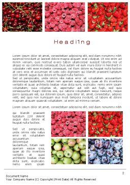 Greengrocery Word Template, First Inner Page, 10397, Agriculture and Animals — PoweredTemplate.com