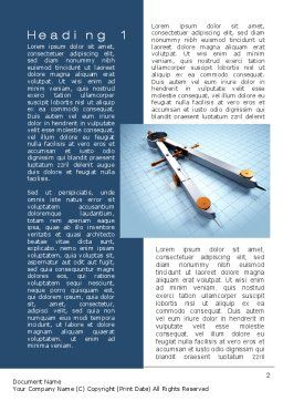 Compass Divider Word Template, First Inner Page, 10401, Utilities/Industrial — PoweredTemplate.com