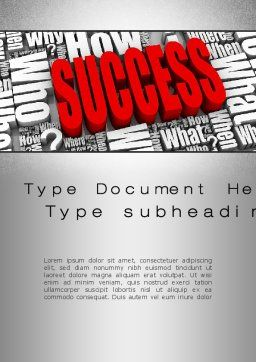 How to Succeed Word Template, Cover Page, 10402, Careers/Industry — PoweredTemplate.com