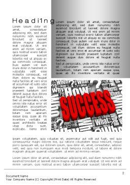 How to Succeed Word Template, First Inner Page, 10402, Careers/Industry — PoweredTemplate.com