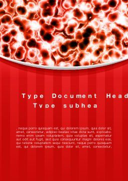 Microscopically Word Template, Cover Page, 10403, Medical — PoweredTemplate.com
