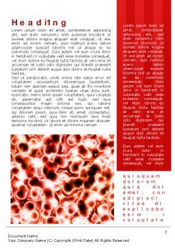 Microscopically Word Template, First Inner Page, 10403, Medical — PoweredTemplate.com