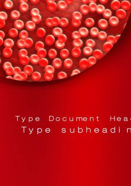 Hematology Word Template, Cover Page, 10407, Medical — PoweredTemplate.com