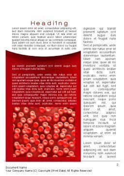 Hematology Word Template, First Inner Page, 10407, Medical — PoweredTemplate.com