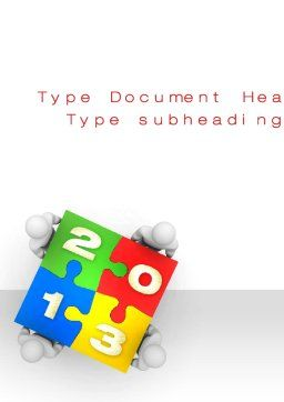 2013 ny Puzzle Word Template, Cover Page, 10408, Business Concepts — PoweredTemplate.com
