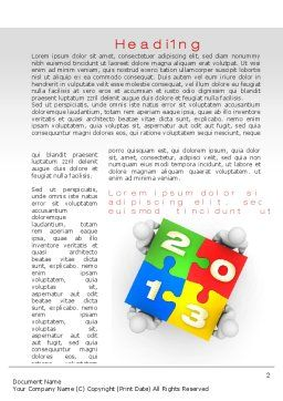 2013 ny Puzzle Word Template, First Inner Page, 10408, Business Concepts — PoweredTemplate.com