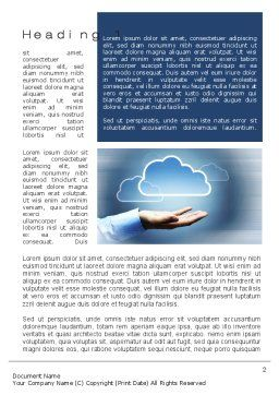 Cloud Solutions Word Template, First Inner Page, 10410, Technology, Science & Computers — PoweredTemplate.com